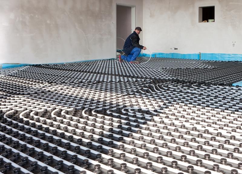 hybride warmtepomp met vloerverwarming