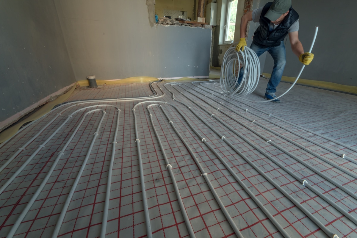 Vloerverwarming leggen: methodes & prijs