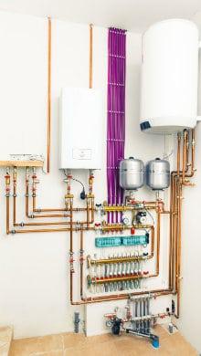 centrale verwarmingsketel met ingebouwde boiler