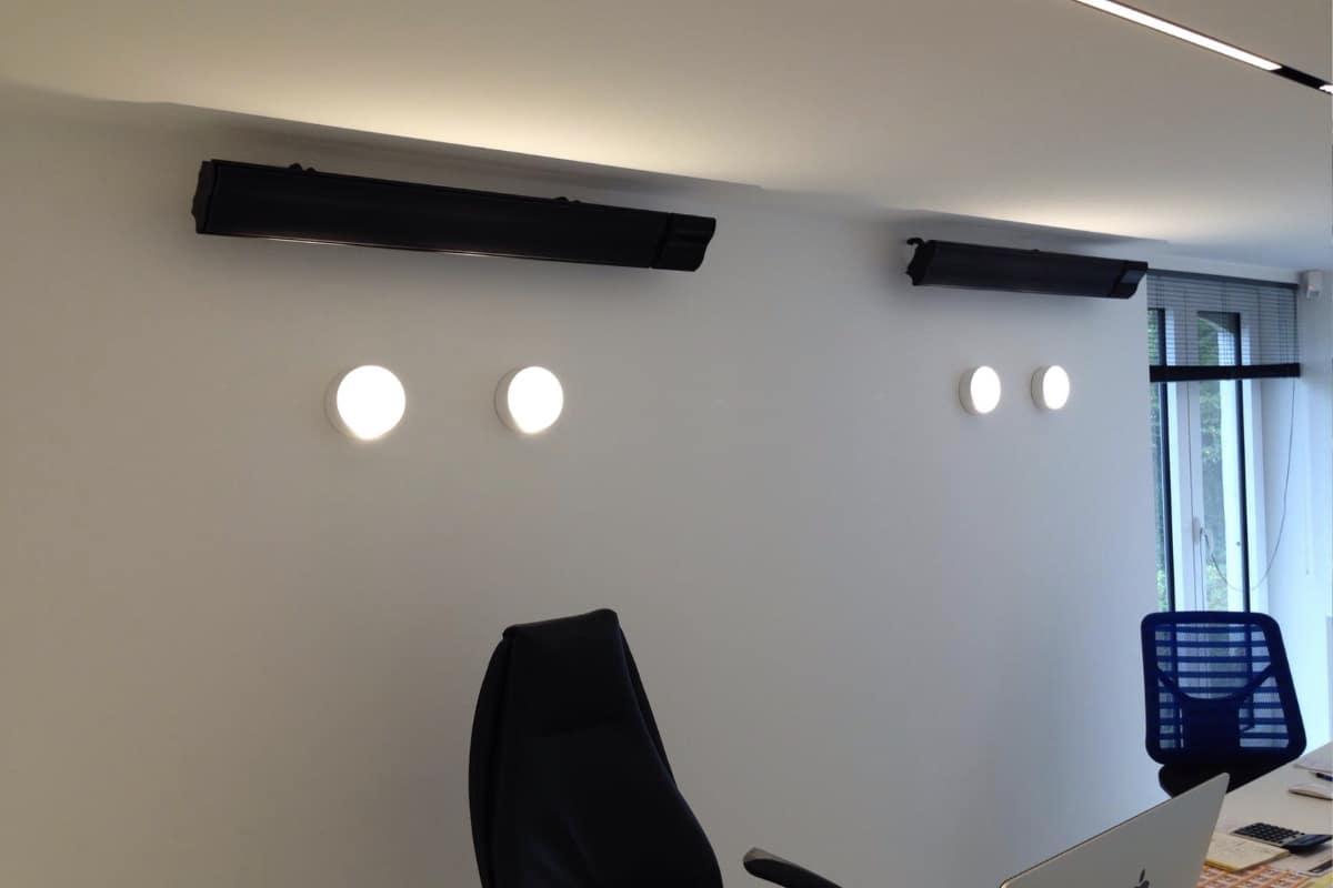 infraroodverwarming kantoor