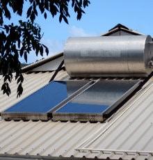 standaard zonneboilerinstallatie