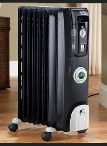 vrijstaande elektrische radiator