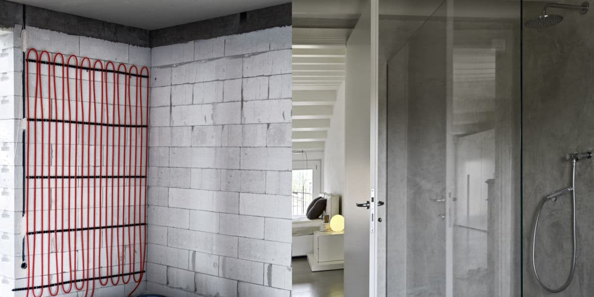 wandverwarming badkamer